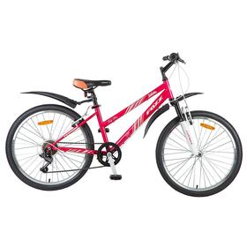 """Велосипед 24"""" Foxx Salsa, 2018, цвет розовый/белый, размер 14"""""""