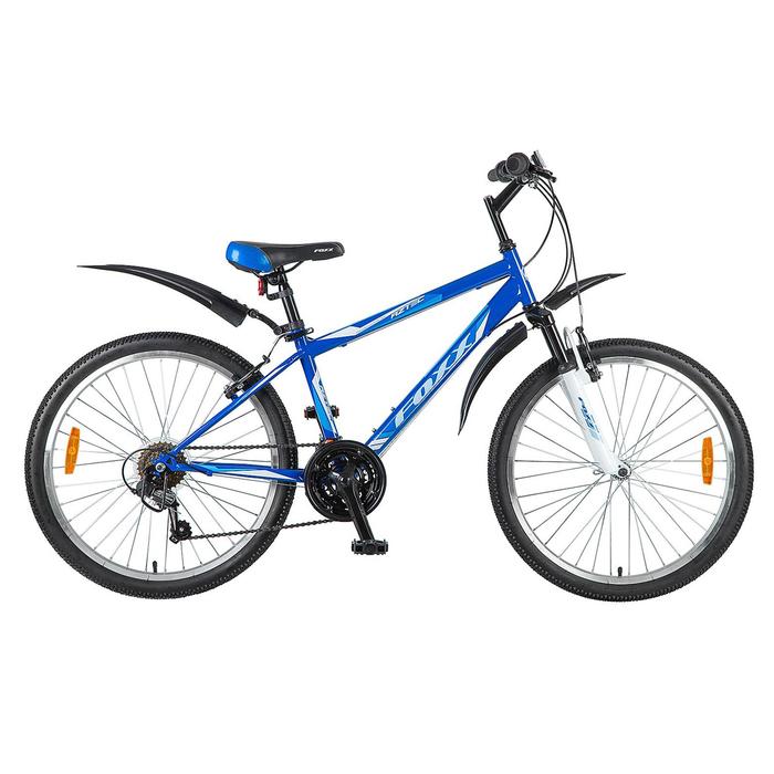 """Велосипед 24"""" Foxx Aztec, 2018, цвет синий/белый, размер 14"""""""