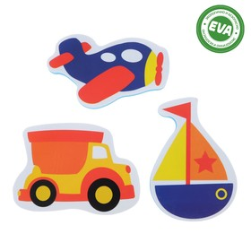 Набор игрушек для ванны «Транспорт»: наклейки из EVA, 3 шт. Ош