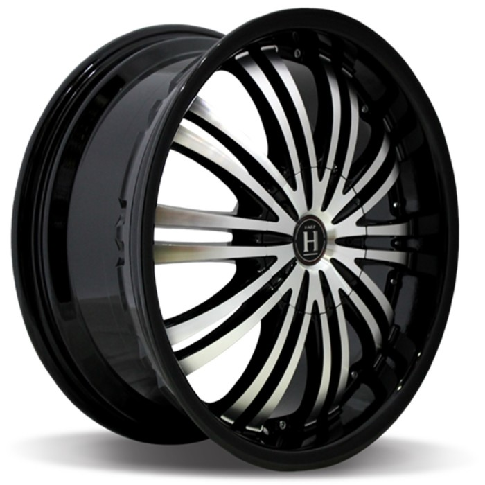 Диск HARP Y-01 7.5x18/5x114.3 ET40 D72.6 Glossy-Black__Machined-Face__Glossy-Black-Lip