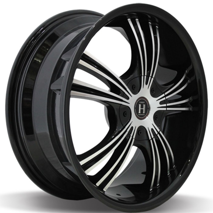 Диск литой HARP Y-02 7.5x18/5x114.3 ET40 D72.6 Glossy-Black Machined-Face Glossy-Black