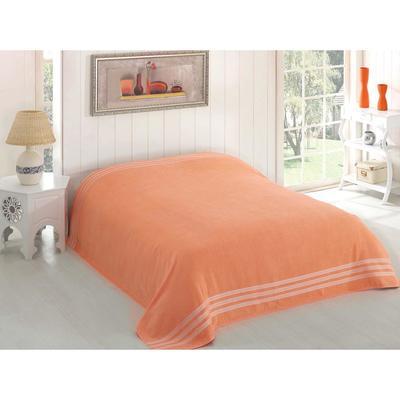 Простыня махровая Petek, размер 200х220 см, абрикосовый, 310 г/м2