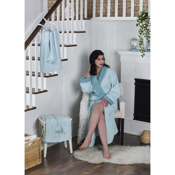 Набор Adra, халат S/M, полотенца 50х90 см, 70х140 см, по 1 шт., ментол