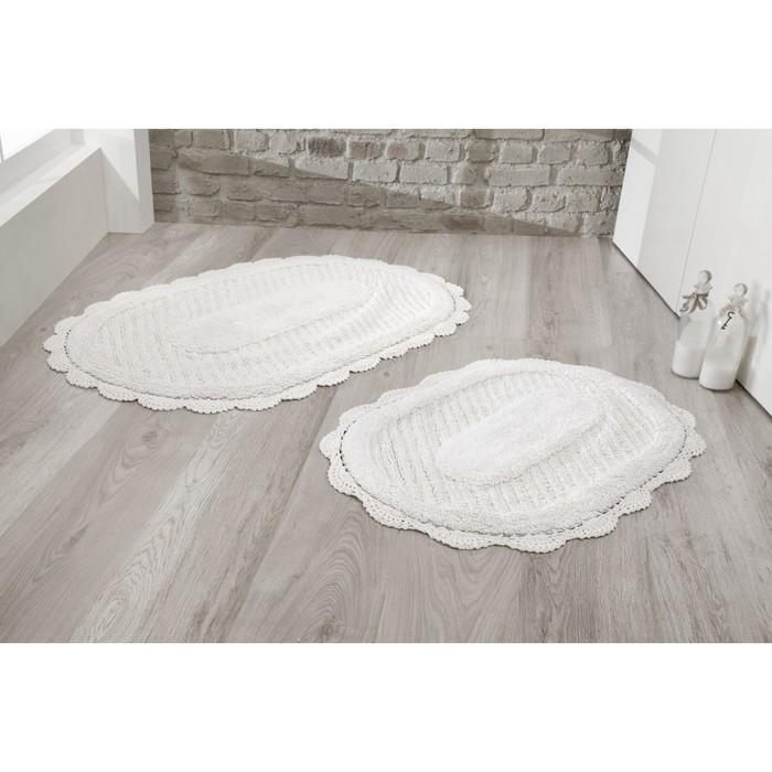 Набор ковриков Lokal, размер 60х100 см, 50х70 см, цвет кремовый