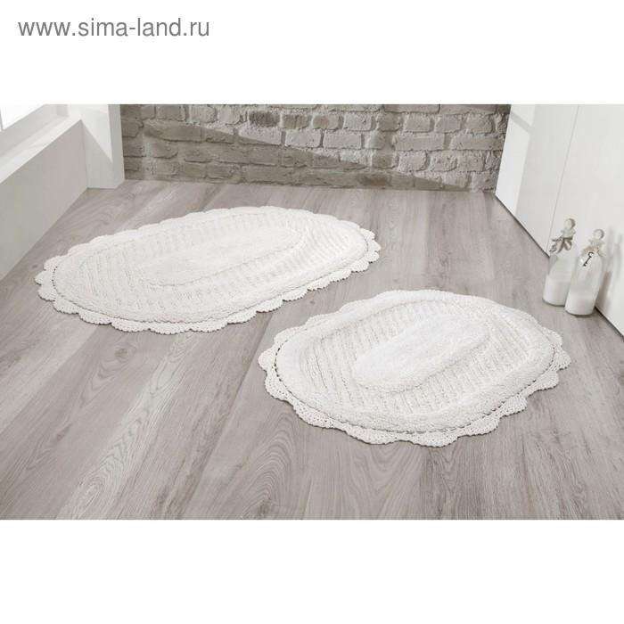 Набор ковриков Lokal, размер 60х100 см, 50х70 см, кремовый