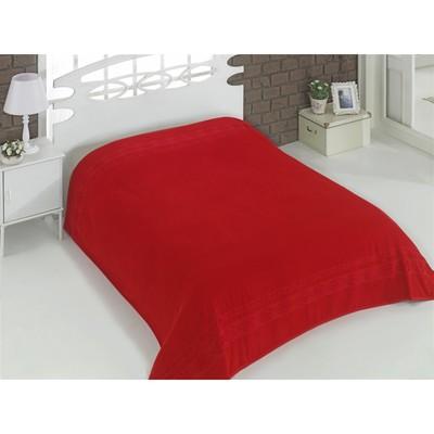 Простыня махровая Rebeka, размер 160х220 см, красный, 310 г/м2