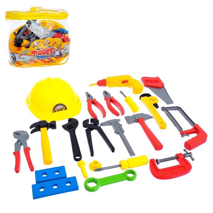 Набор инструментов «Строитель», 23 предмета