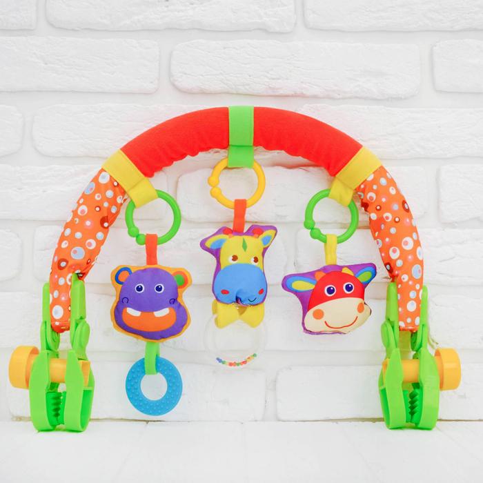 Дуга игровая мягкая на коляску/кроватку «Африка»