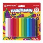 Пластилин 12 цветов 200 г, BRAUBERG высшее качество, в блистере - фото 7672800