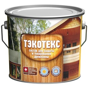 Состав ТЭКОТЕКС для защиты и тонирования древесины золотой дуб, ведро 2,1 кг