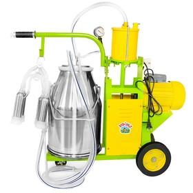 Доильный агрегат, поршневой, 22,6 л, последовательно выдаивает 8-10 коров, силикон
