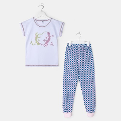 Пижама для девочки, рост 110-116 см, цвет розовый 11040