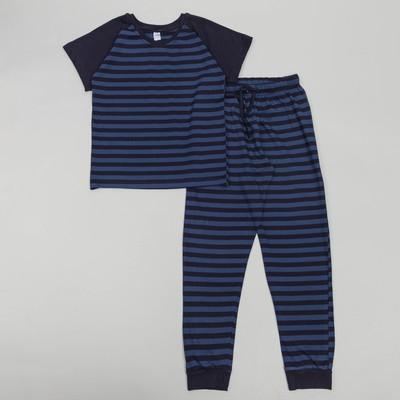 Пижама для мальчика, рост 98-104 см, цвет синий 11041