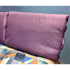 Подушка-изголовье 62х80 см, цвет лавандовый, рогожка, синтет.волокно, 95% пэ 5%хл