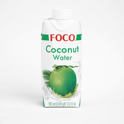 Кокосовая вода FOCO 100% натуральная без сахара, 330 мл Tetra Pak