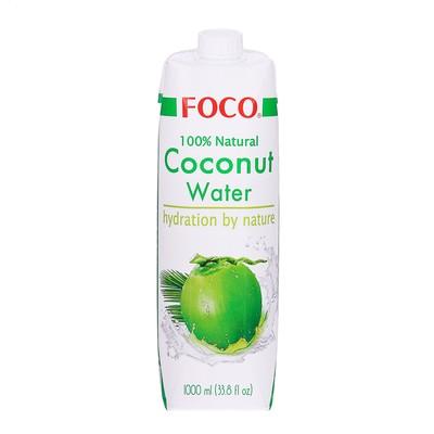 Кокосовая вода FOCO 100% натуральная без сахара,1 л Tetra Pak