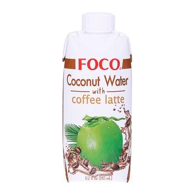 """Кокосовая вода с кофе латте """"FOCO"""" 330 мл, Tetra Pak"""