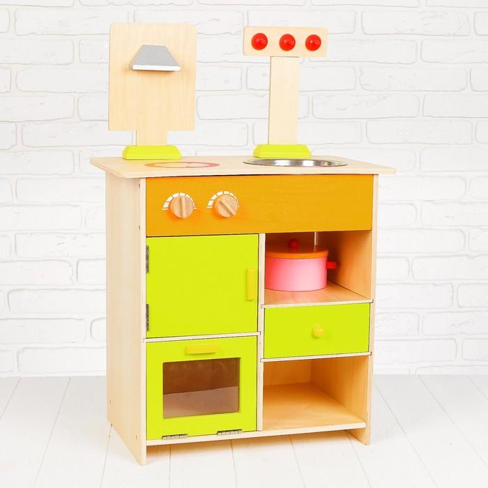 """Игровой набор """"Кухонный модуль"""", деревянная посуда в наборе MSN13025"""