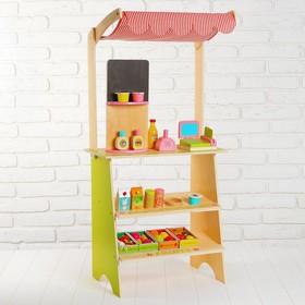 Игровой набор «Играем в магазин», деревянные продукты в наборе