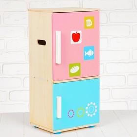 Игровой набор «Холодильник», деревянные продукты в наборе