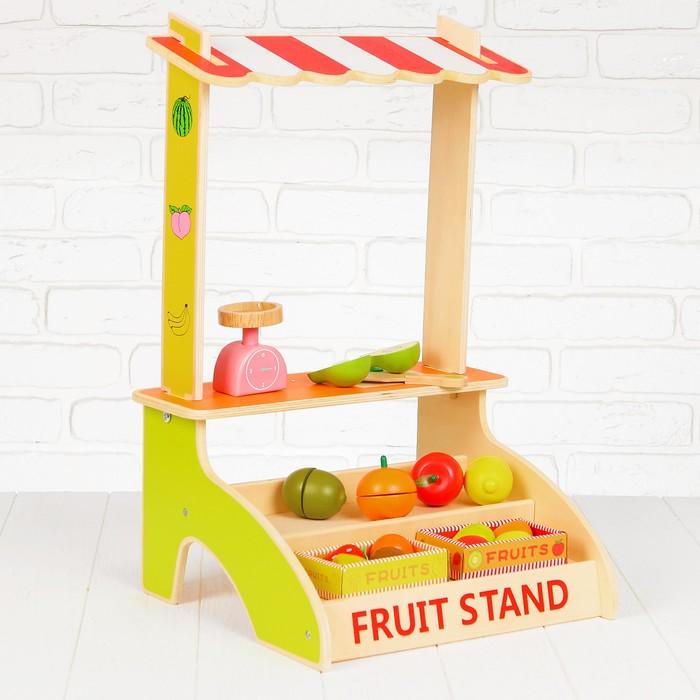 """Игровой набор """"Лоток с фруктами"""", деревянные фрукты в комплекте"""