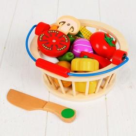 """Игровой набор """"Овощи в корзине"""", 14 овощей: 5,5 × 5 см"""