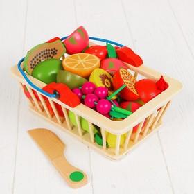 Игровой набор «Корзина с фруктами», 16 продуктов