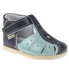 Туфли летние ясельные арт. 11-011-6 (синий/голубой) (р. 19,5) (12 см)