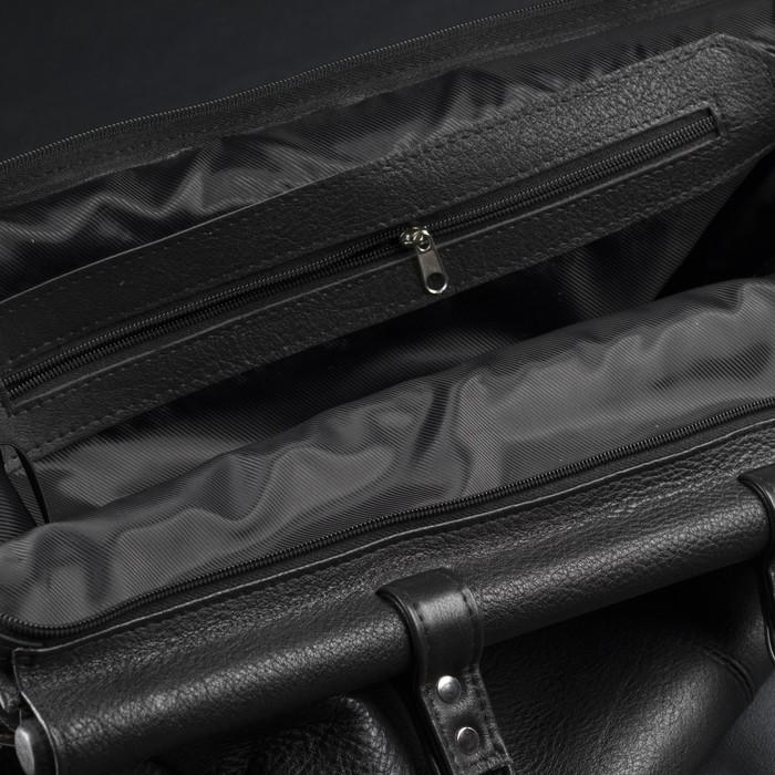 Сумка дорожная, отдел на молнии, наружный карман, цвет чёрный