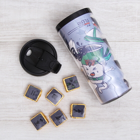Подарочный набор «Пей чай»: термостакан 350 мл, чай пуэр 30 г