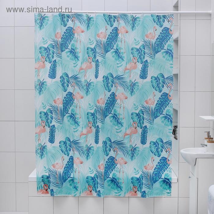 Shower curtain 180×180 cm Flamingo PEVA