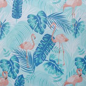 """Штора для ванной 180×180 см """"Фламинго"""", PEVA"""