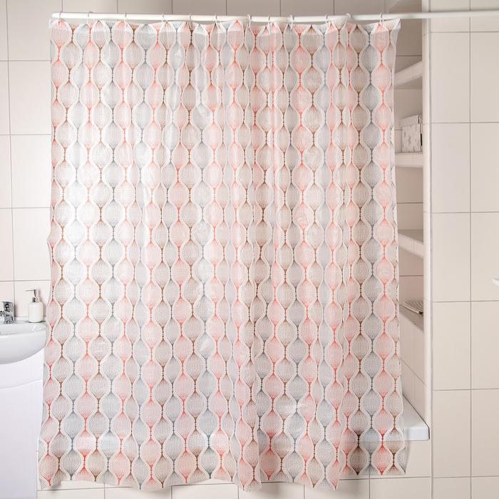 Штора для ванной комнаты Доляна «Капли», 180×180 см, EVA - фото 4654540
