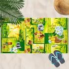 Вафельное полотенце пляжное «Релакс» 80х150 см, разноцветный, 160г/м2,хлопок 100%