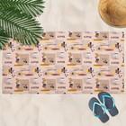 Вафельное полотенце пляжное «Тет-а-тет» 80х150 см, разноцветный, 160г/м2,хлопок 100%