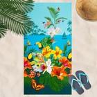 Вафельное полотенце пляжное «Багамы» 80х150 см, разноцветный, 160г/м2,хлопок 100%
