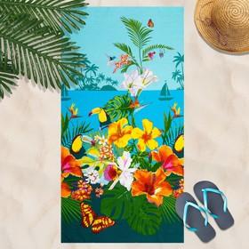 Вафельное полотенце пляжное «Багамы» 80х150 см, разноцветный, 160г/м2,хлопок 100% Ош
