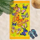 Вафельное полотенце пляжное «Бабочки
