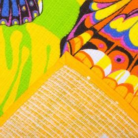 Вафельное полотенце Бабочки 80х150 см, желтый, хлопок 100 %, 160г/м² - фото 1395821