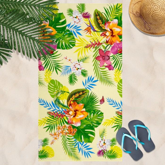 Вафельное полотенце Тропикано 80х150 см, разноцветный, хлопок 100 %, 160г/м²