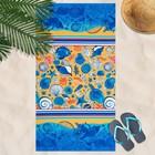 Вафельное полотенце пляжное «Пляж» 80х150 см, разноцветный, 160г/м2,хлопок 100%