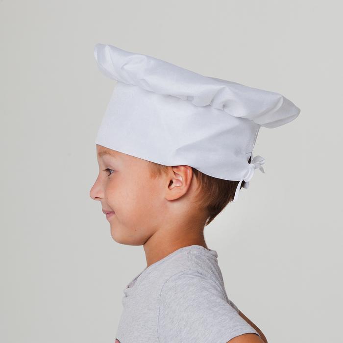 """Карнавальный костюм """"Поварёнок"""", фартук, колпак, р--р 32-36, рост 122-134 см"""