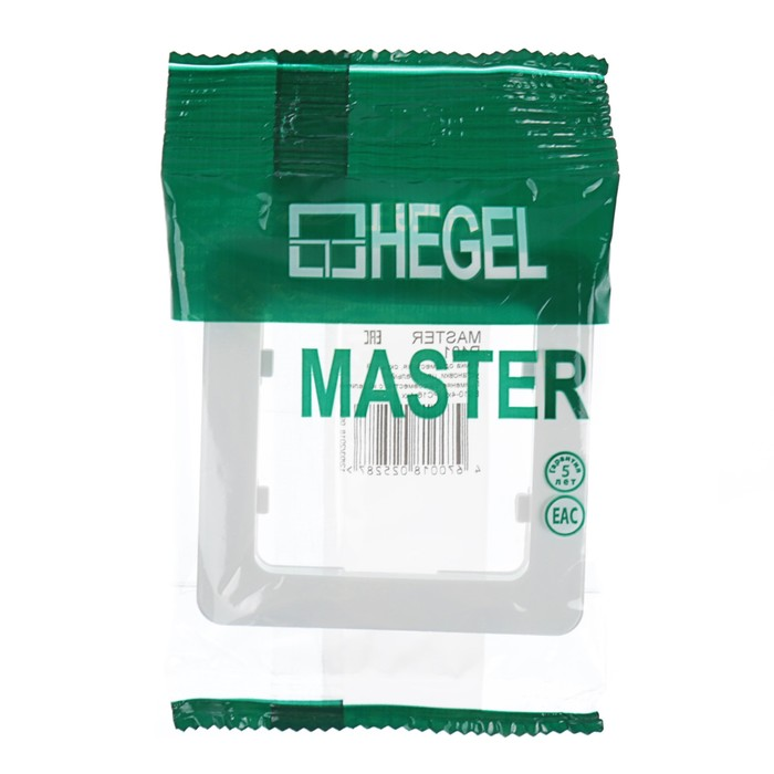 "Рамка HEGEL ""Мастер"" Р401, однопостовая, горизонтальная , белый"
