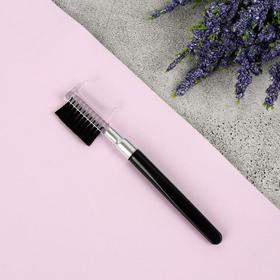 Comb-brush for eyebrows and eyelashes, 11.5 cm, black color