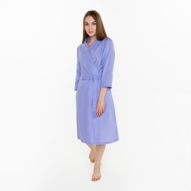 "Waffle Bathrobe women, ""the Economy and me"" 3/4 sleeve color lilac R. 46-48, XL 100%, 200 g/m2"