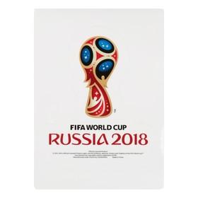 Наклейка на автомобиль кубок 2018 FIFA World Cup Russia™, 14,8 х 21 см Ош
