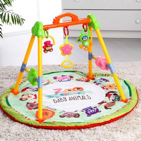 Игровой развивающий центр «Зоо», с ковриком, музыкальный
