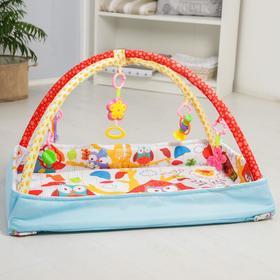 Развивающий коврик с дугами «Совушкин дом», 5 игрушек Ош