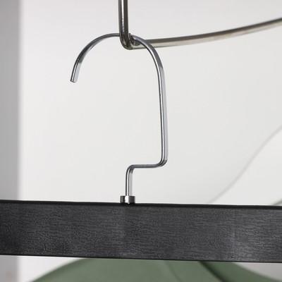 Вешалка для брюк и юбок с зажимами 30×17 см, цвет чёрный