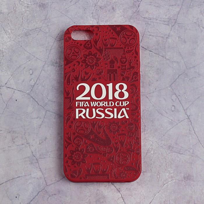 Чехол FIFA WORLD CUP RUSSIAN 2018, iPhone 5/5S/SE, матовое покрытие
